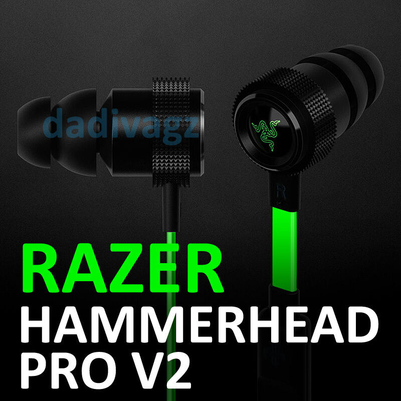 in ear razer hammerhead pro v2 gaming headset pc laptop headphone with mic ebay. Black Bedroom Furniture Sets. Home Design Ideas