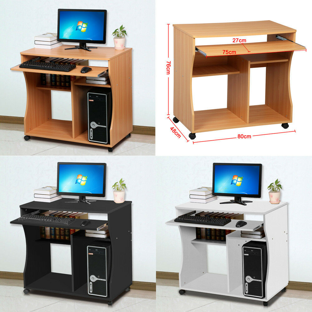 Wooden home office computer desk study furniture mobile for Work desks home