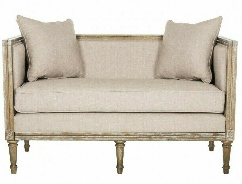 Modern Chesterfield Settee Sofa Banquette Bench Tufted High Wingback Rolled Arms Ebay