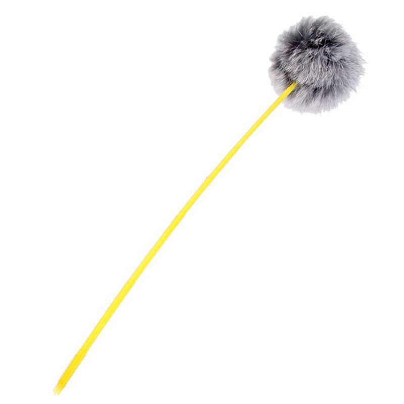 32cm cat funny rabbit fur hair ball charmer teaser wand
