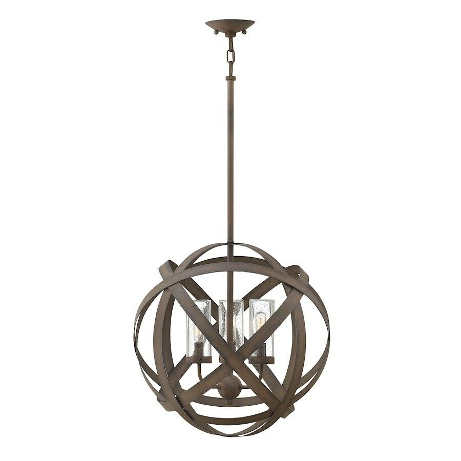 Details About Hinkley Lighting Carson 3 Light Outdoor Chandelier Vintage Iron 29703vi