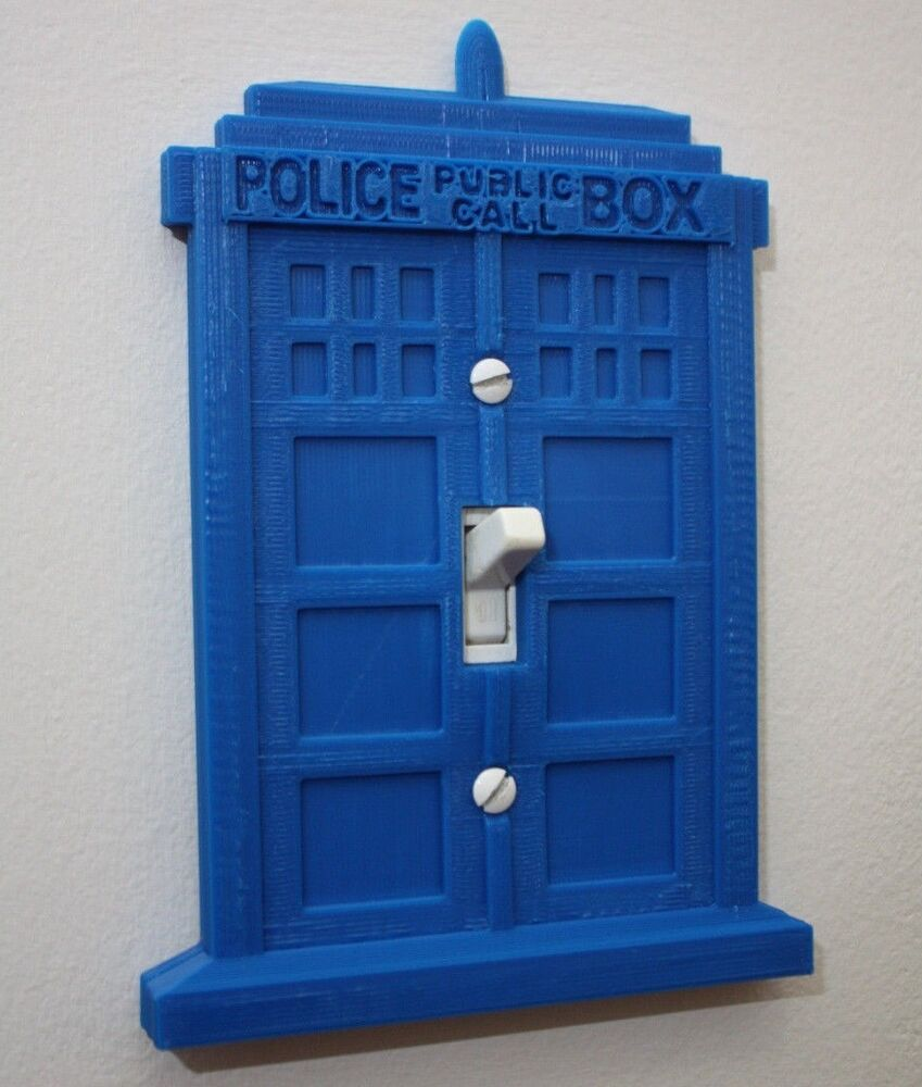 Doctor who tardis light switch cover plate toggle home for Tardis light switch cover