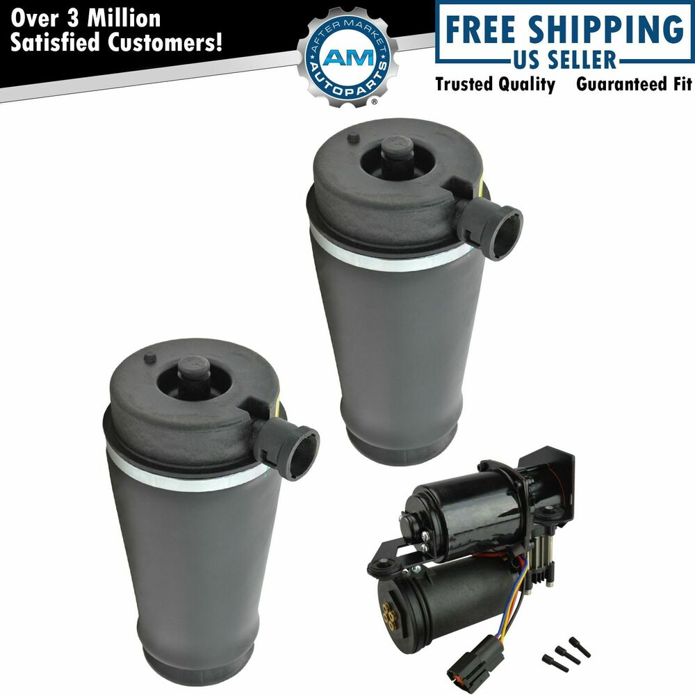 rear suspension air bags compressor dryer kit for