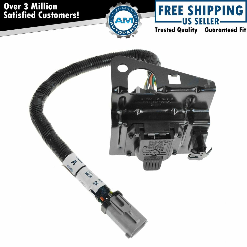 ford 4  u0026 7 pin trailer tow wiring harness w  plug  u0026 bracket