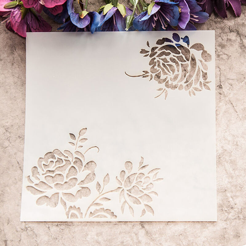 blooming flowers laser cut dies stencil template diy