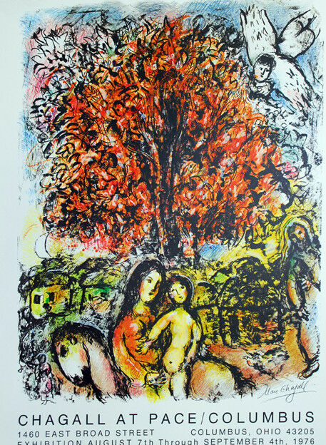 marc chagall lithographie saint famille 1976 signiert ebay. Black Bedroom Furniture Sets. Home Design Ideas