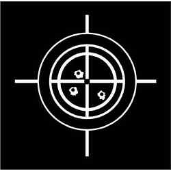 TARGET CROSSHAIRS Vinyl Decal (6'' 7'' 8'', 12 Colors) MD