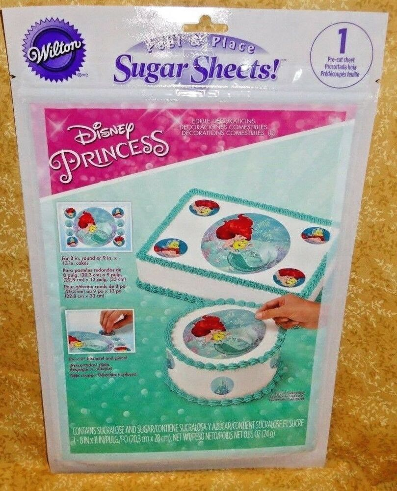 Cake Decorating With Edible Paper : Ariel,Little Mermaid Sugar Sheet, Edible Decorating Paper ...