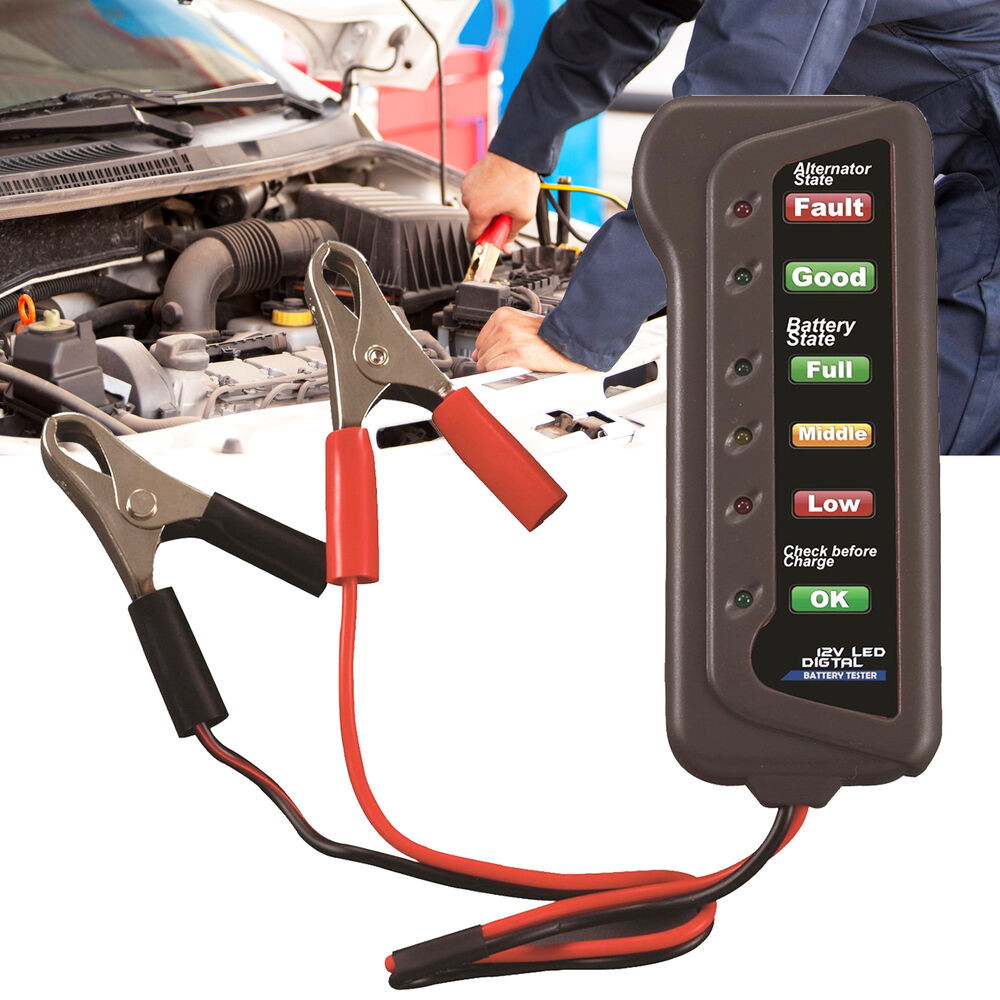 Car Motorcycle Digital Battery Alternator Load Tester 6