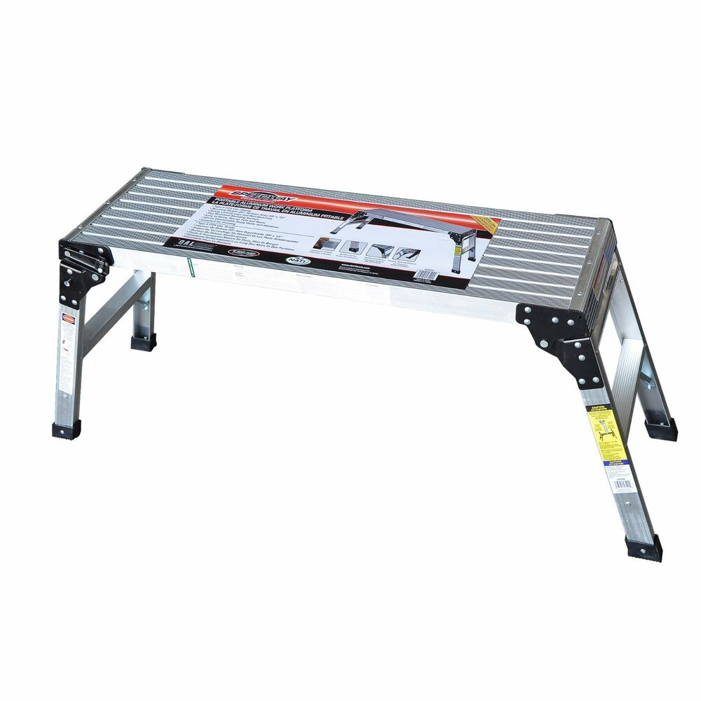 Speedway Aluminum Work Platform Drywall Step Up Folding
