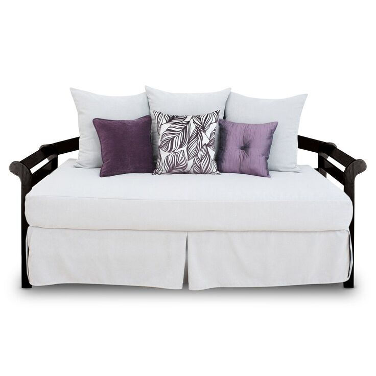 14 daybed white full size 54 deep tailored bed skirt split corners ebay. Black Bedroom Furniture Sets. Home Design Ideas