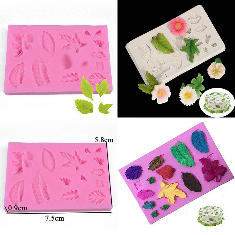 3d Cake Decorating Download : 3D Silicone Leaves Fondant Mould Baking Sugarcraft Candy ...