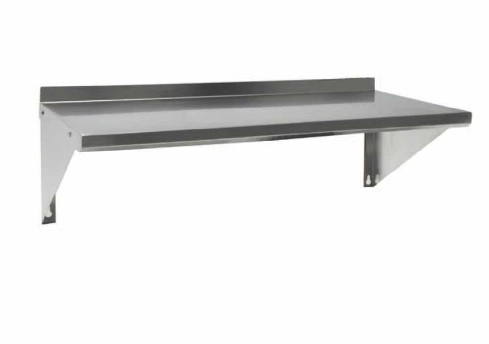 quality stainless steel commercial wall mounted shelf with backsplash 33x12x2 ebay. Black Bedroom Furniture Sets. Home Design Ideas