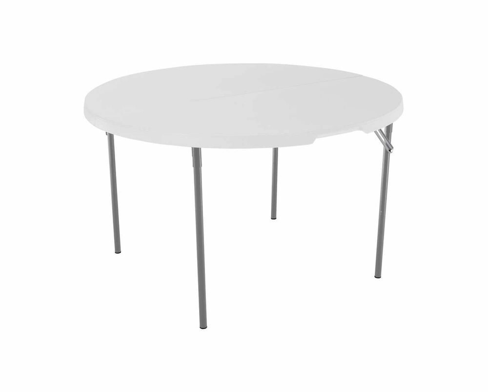 Fold In Half Round Table Lifetime 280064 Commercial Fold In Half Round Table 4 Feet White
