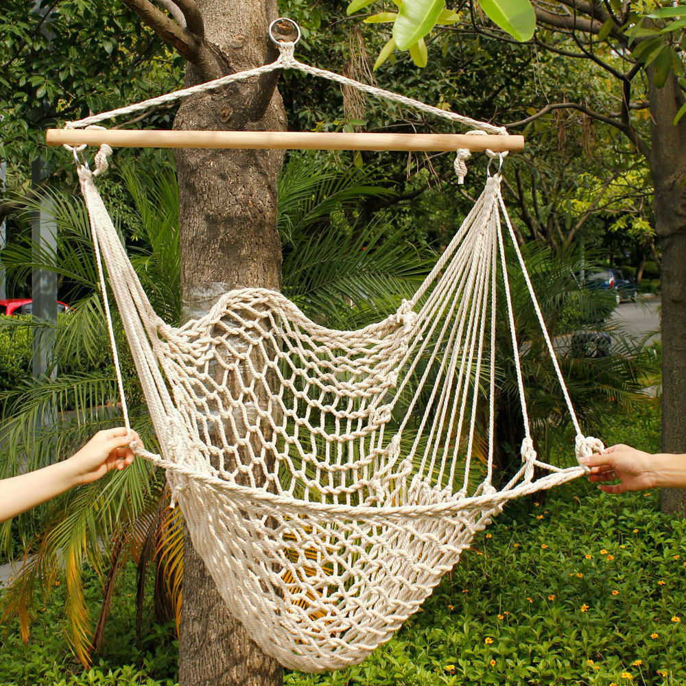 Patio Hammock: DELUXE Air Swing Hammock Porch Chair Hanging Indoor