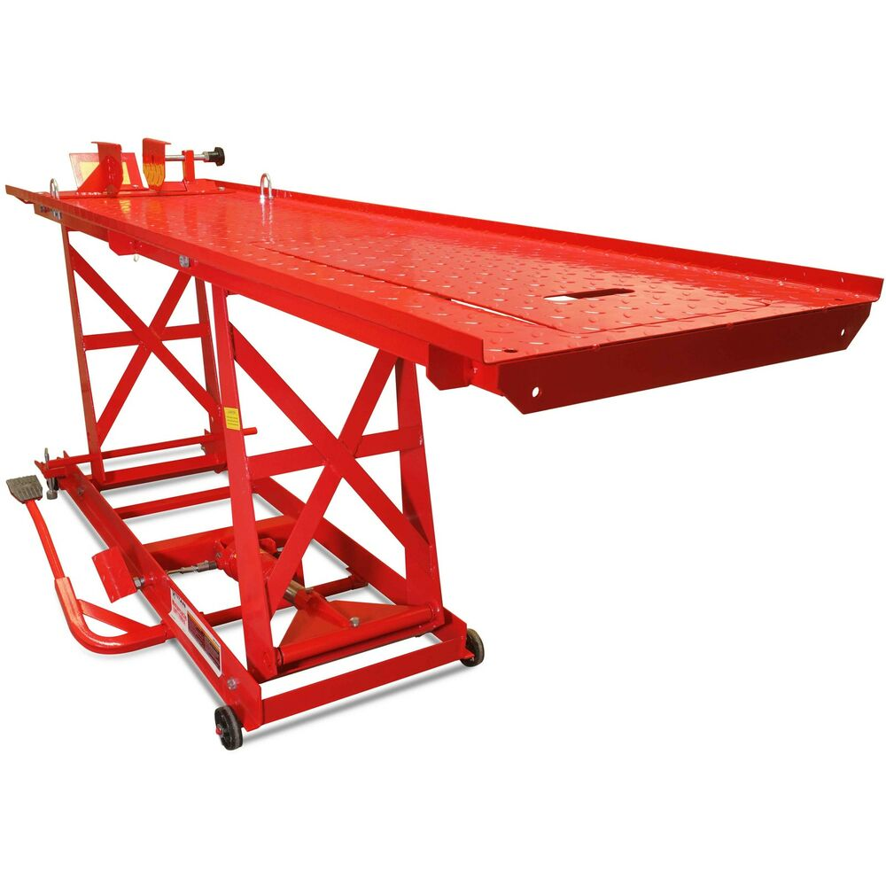 Hydraulic Motorcycle Lift Truck : Titan ramps lb hydraulic motorcycle lift table extra