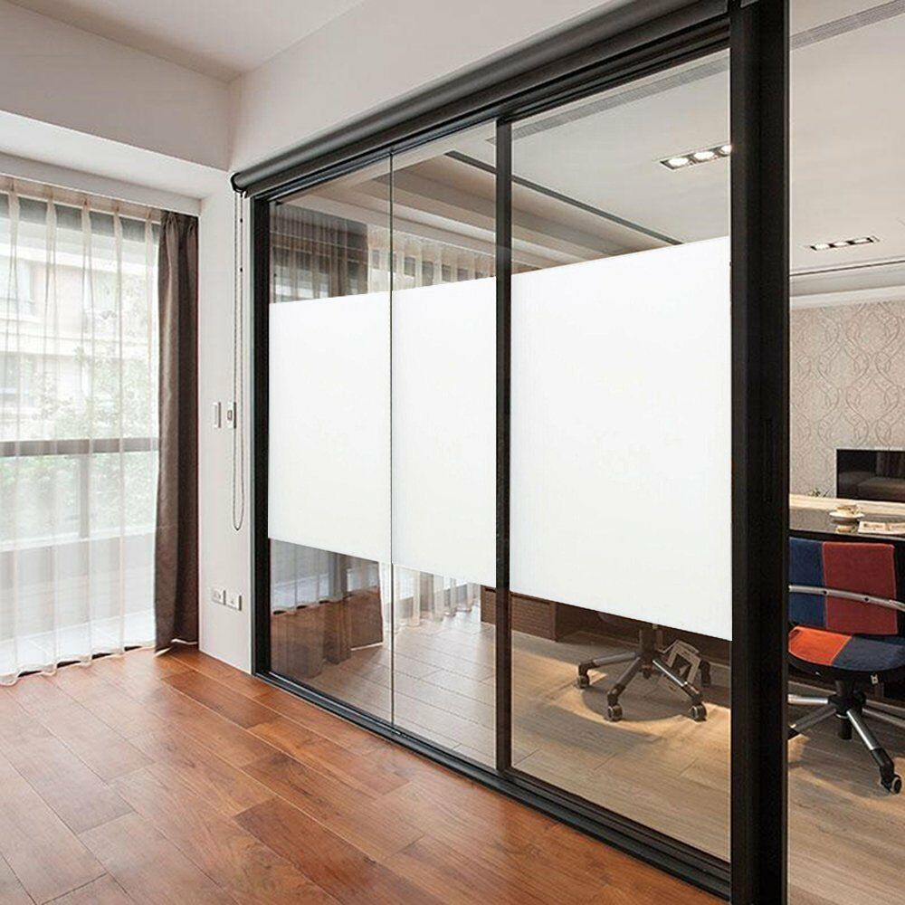 frosted window glass privacy tint vinyl film sheet bathroom bedroom office ebay. Black Bedroom Furniture Sets. Home Design Ideas