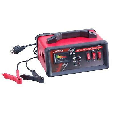 Ultra Performance 2/6 Amp 6/12 Volt Manual Battery Charger Trickle Charger