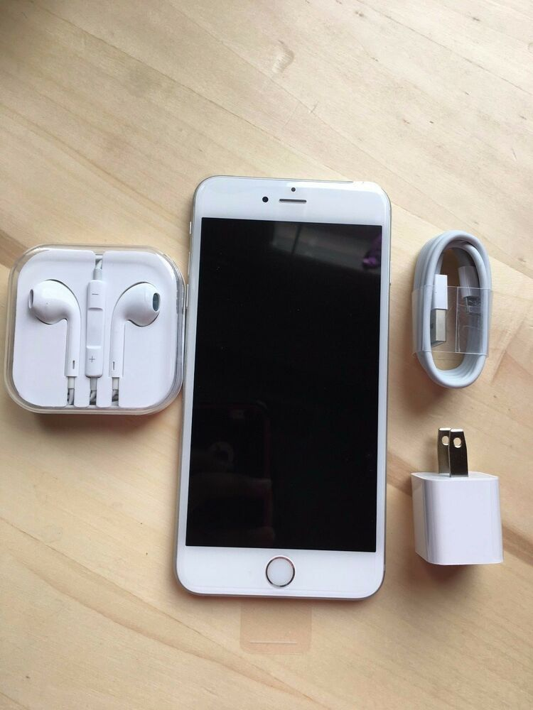new apple iphone 6 plus 64gb silver t mobile factory. Black Bedroom Furniture Sets. Home Design Ideas