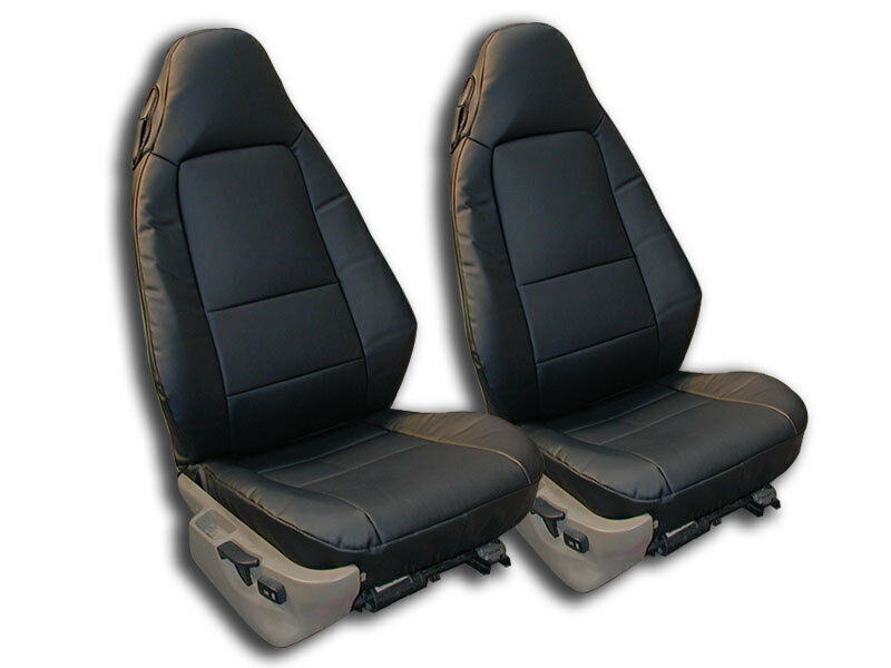Bmw Z3 1996 2002 Black Iggee S Leather Custom Fit Front