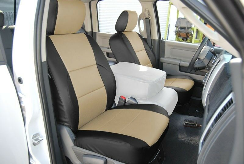 Dodge Ram 1500 2500 3500 2009 2012 Iggee S Leather Custom Fit Front Seat Cover Ebay