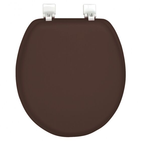 New Ginsey Solid Chocolate Brown Padded Standard Round