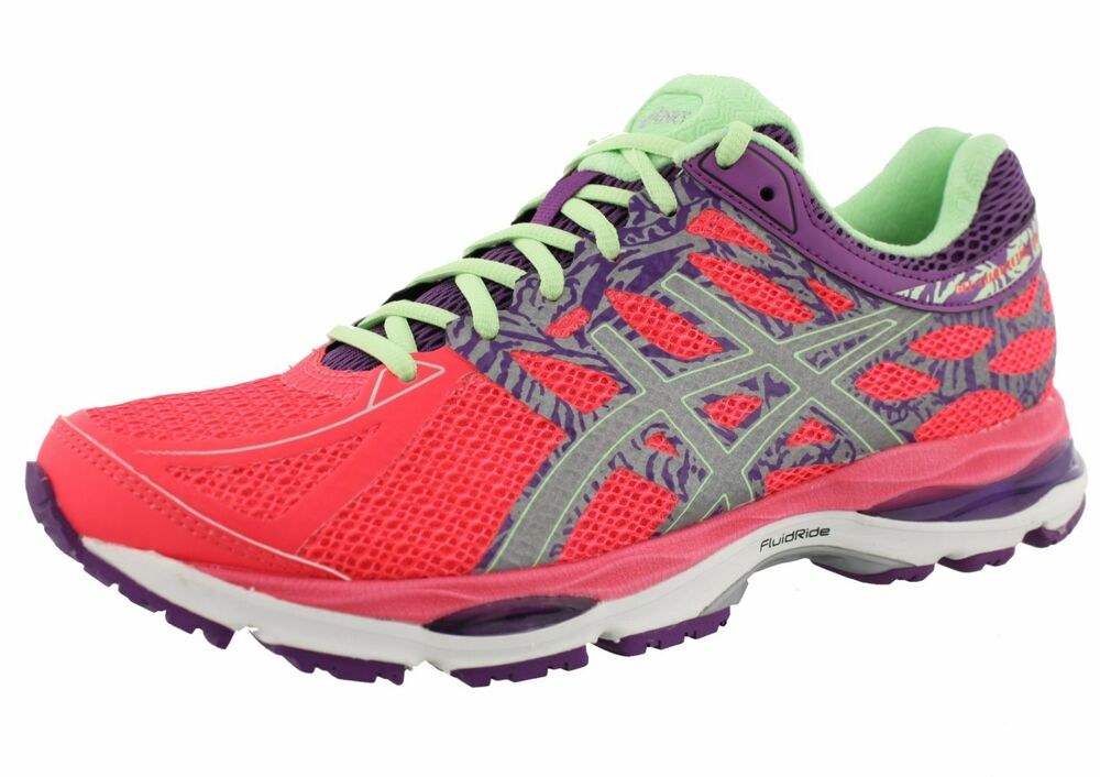 asics cumulus running shoes onyx and mint