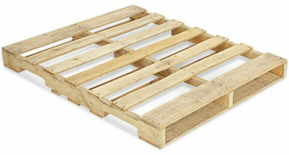 """5 Brand New Wood Pallets - 48 x 40"""" - Free Fast Shipping ..."""