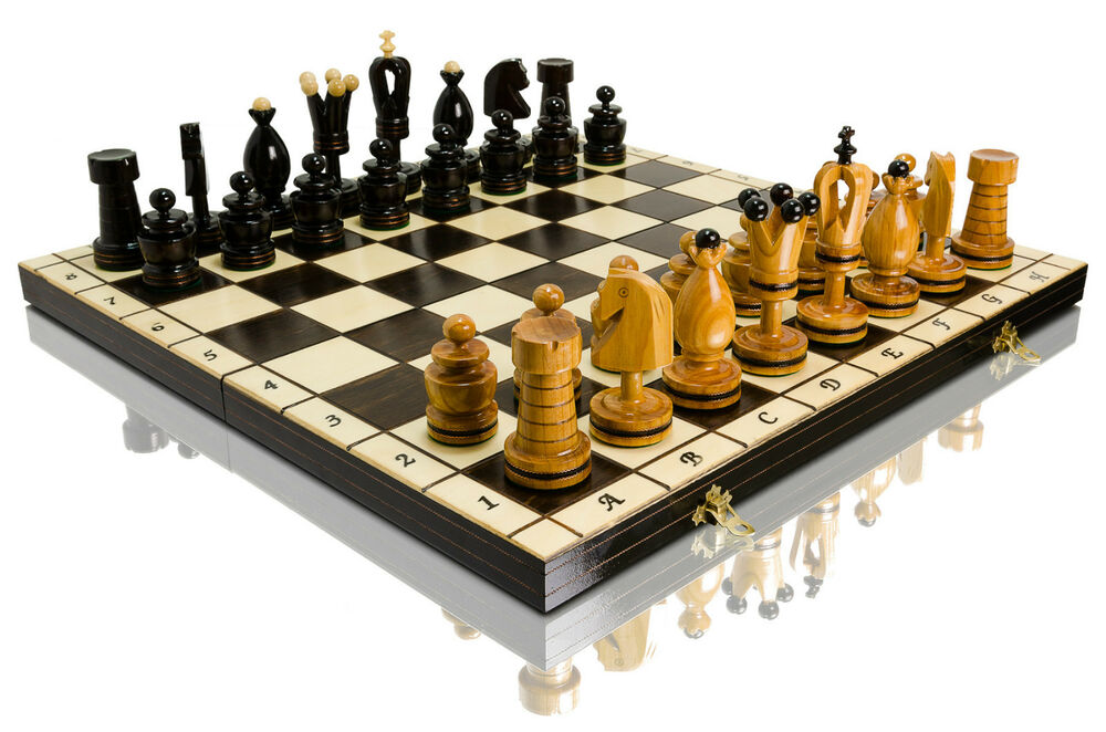 Superb royal incrusted large 50 x 50cm hand crafted wooden for Hand crafted chess set