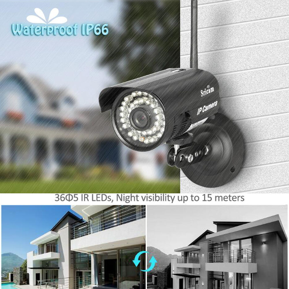 Outdoor Wireless Wifi Network Security Webcam Ir Ip P2p Camera Android System Us Ebay
