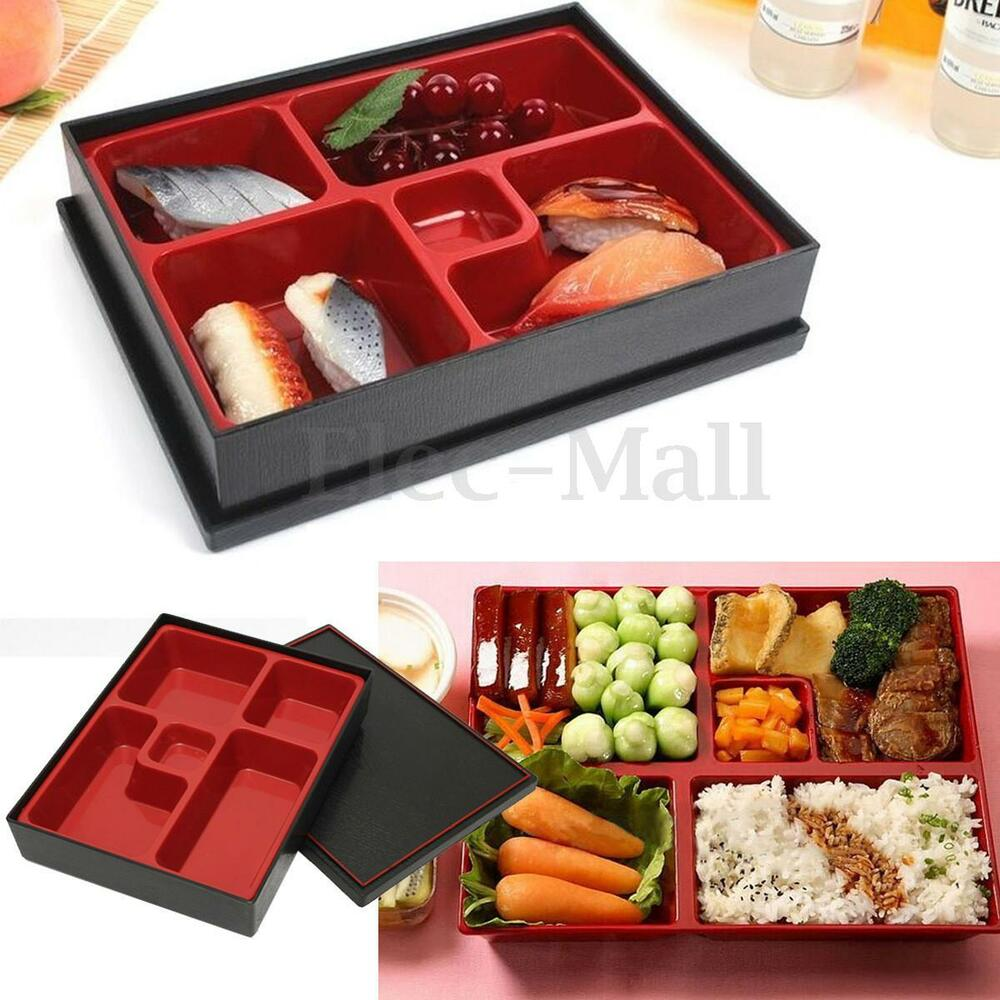 bento lunch box storage small partitions picnic food container japanese style ebay. Black Bedroom Furniture Sets. Home Design Ideas