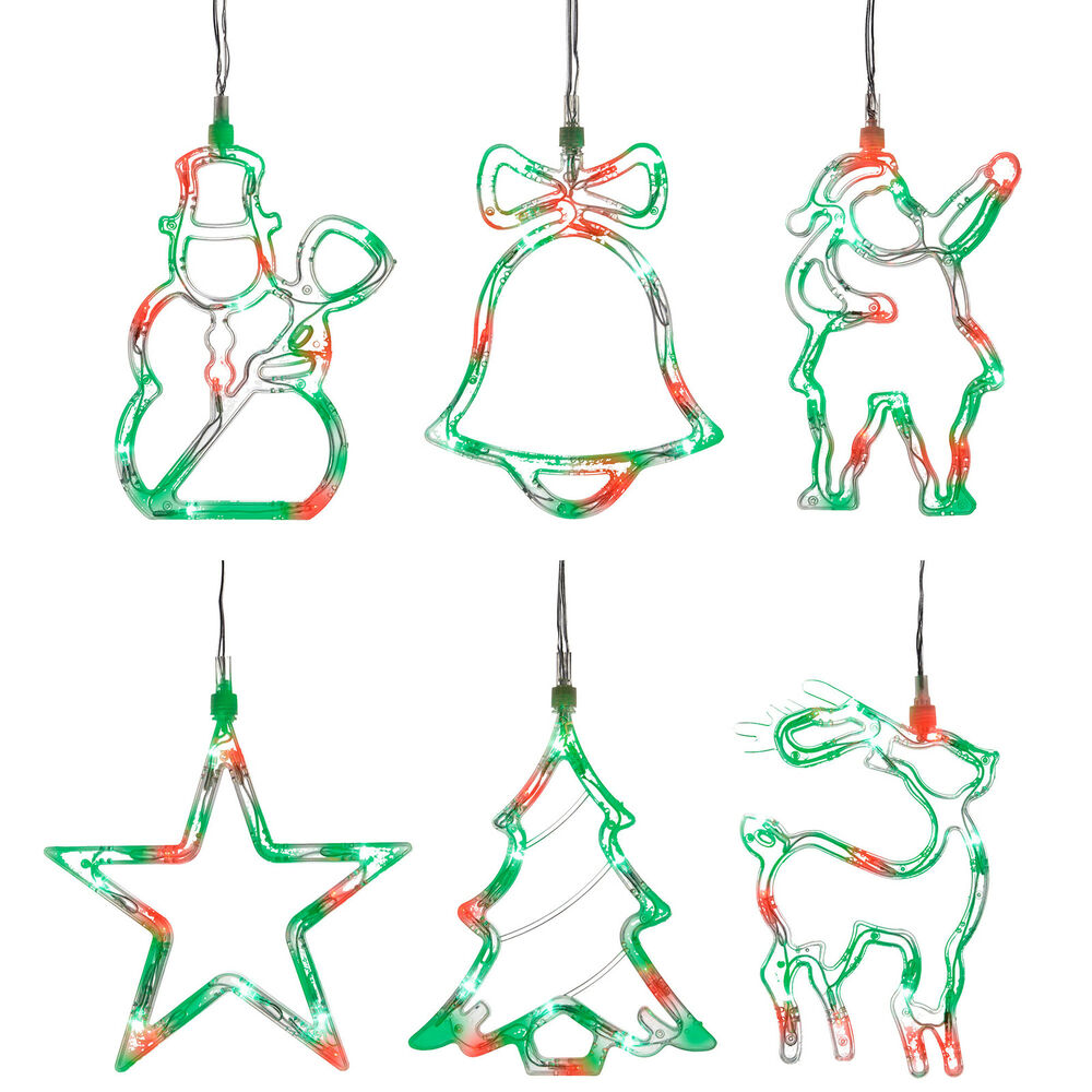 Pre lit led star santa tree snowman silhouette light for 17 clear lighted star christmas window silhouette decoration