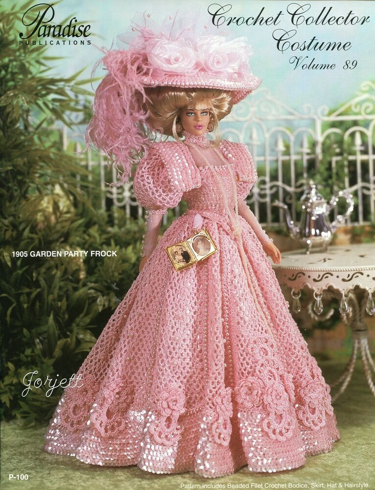 1848 Plantation Party Frock For Barbie Doll Paradise 20 Crochet