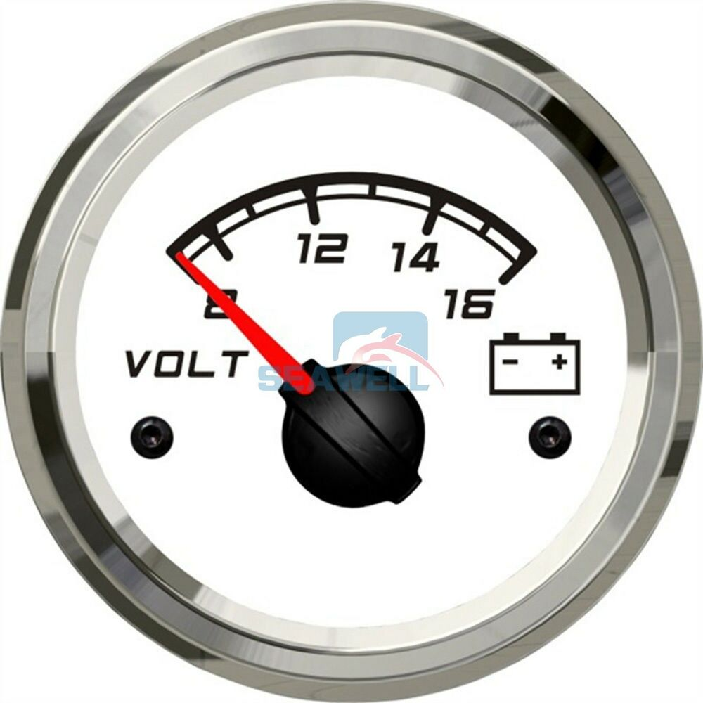 Car Battery Voltage Meter : Kus marine battery voltage meter wema boat voltmeter gauge