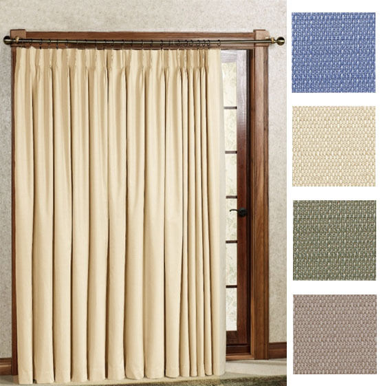 New Crosby Pinch Pleat Thermal Patio Panel 96 Wide By 84 Long Ebay