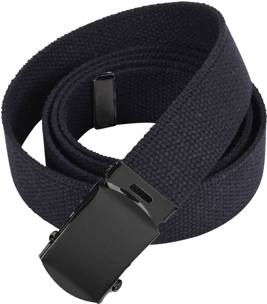 Black Military Cotton Web Belt with Black Buckle  5f4f9d0fd29