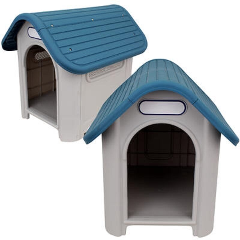 Indoor Outdoor Plastic Dog House Small Medium Pet All