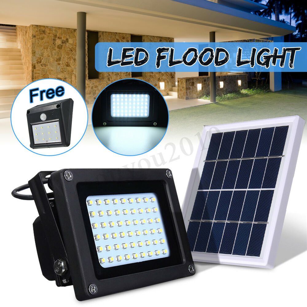 Solar Powered 54 LED Dusk-to-Dawn Sensor Outdoor Security