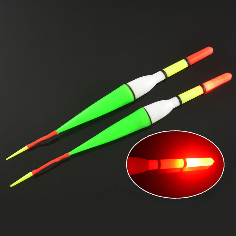 hot 4pcs night fish fishing plastic float bobber red flashing with led light ebay. Black Bedroom Furniture Sets. Home Design Ideas