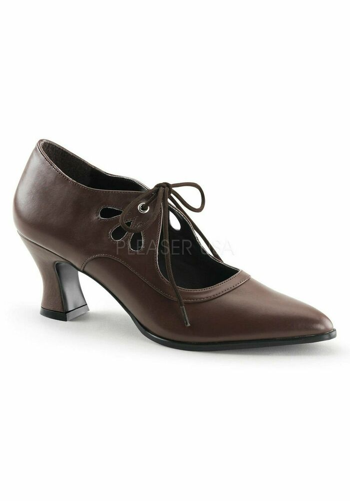 One Inch Heel Round Toe Pump Shoes