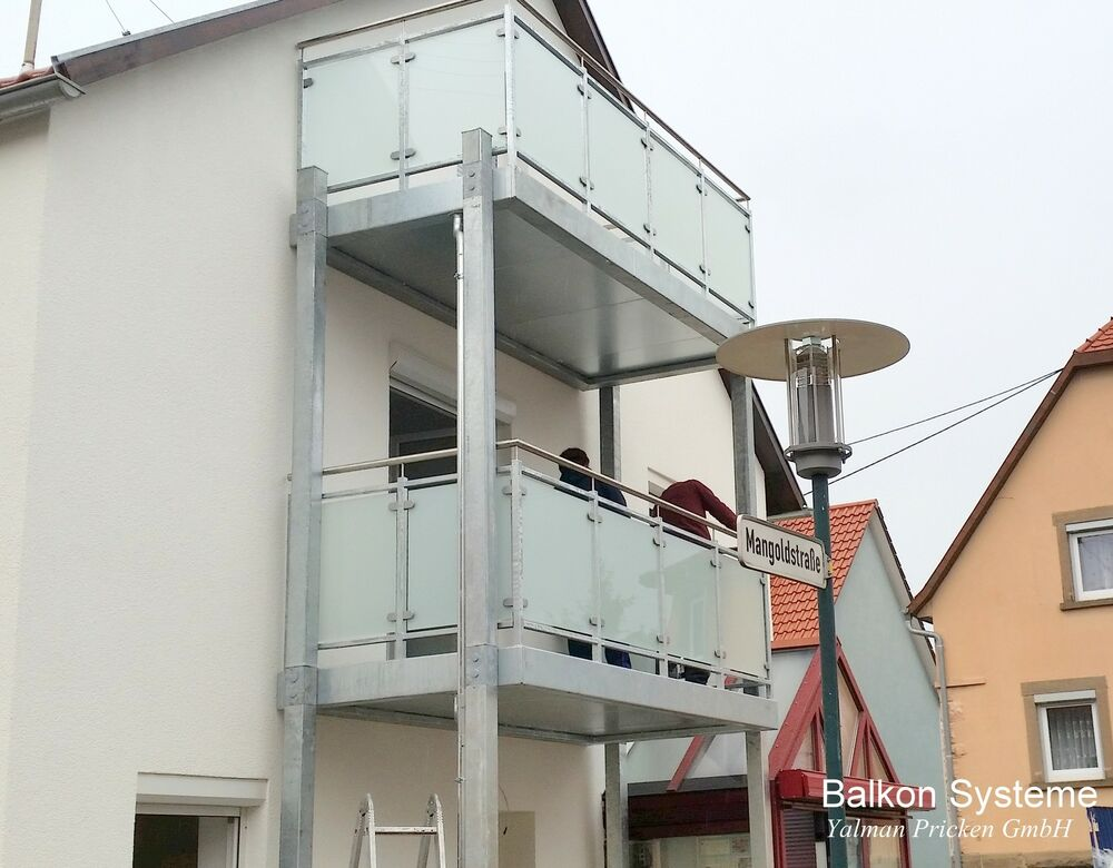 3 m x 1 5 m balkon vorstellbalkon anbaubalkon stahl verzinkt glas vsg ebay. Black Bedroom Furniture Sets. Home Design Ideas