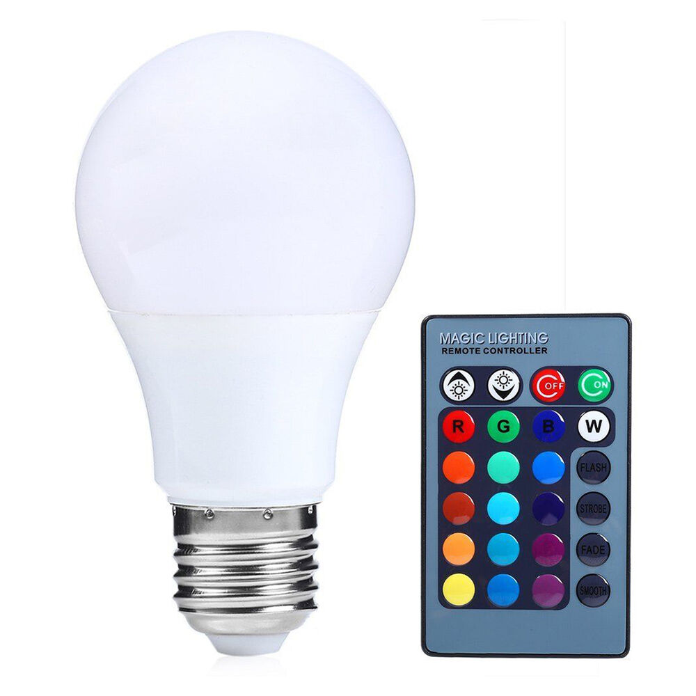 e27 15w dimmable rgb led light color changing bulb with. Black Bedroom Furniture Sets. Home Design Ideas