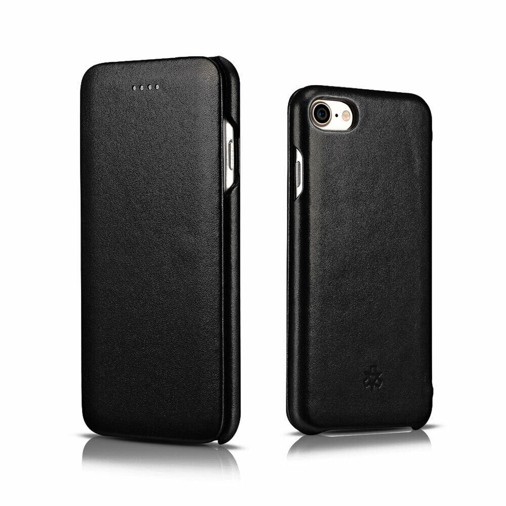 novada genuine leather iphone 7 flip case cover classic. Black Bedroom Furniture Sets. Home Design Ideas