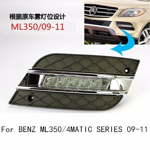 A pair white led daytime running light drl for mercedes for Led light for mercedes benz