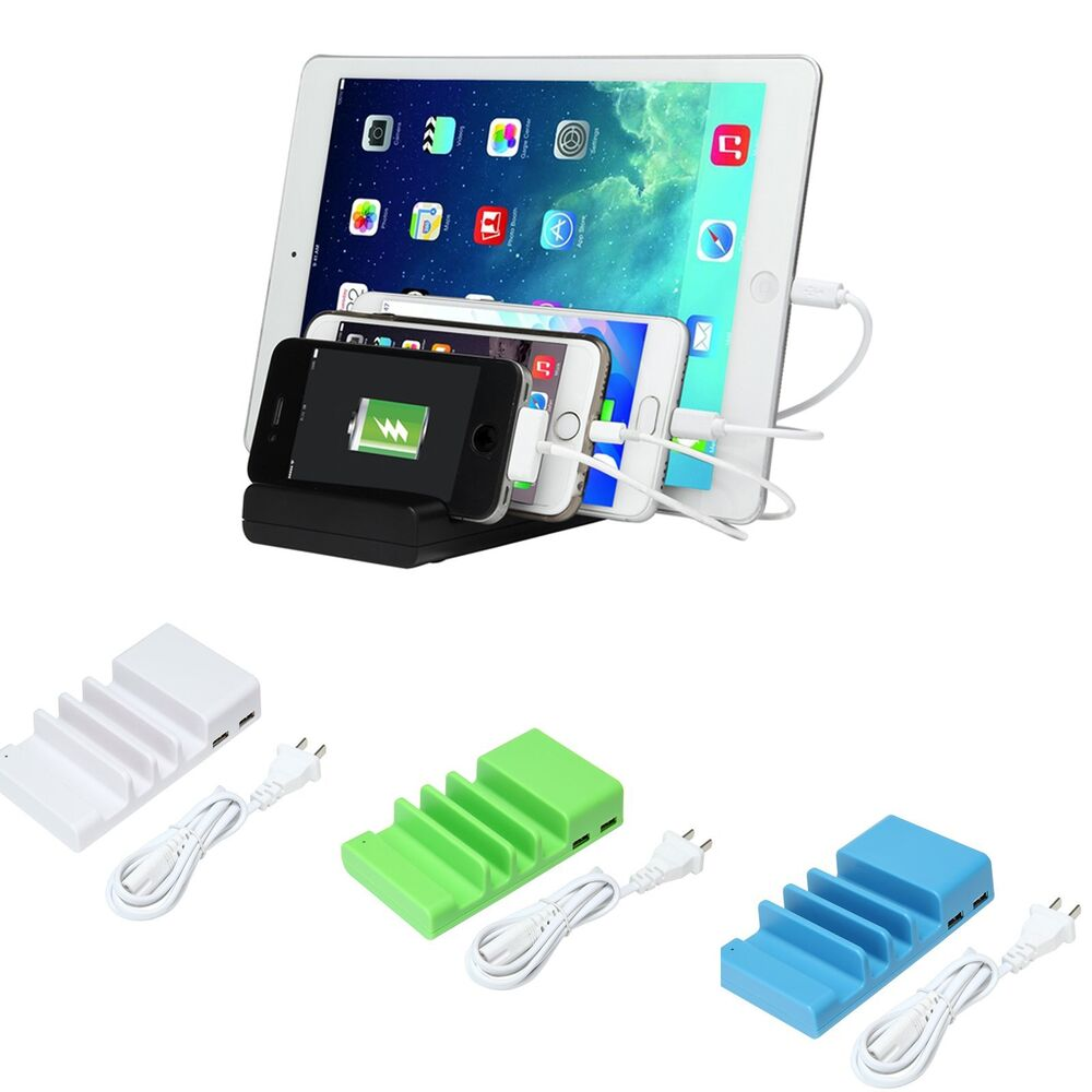 charging stations for iphones 4 port multi usb charging station stand desktop charger 5463