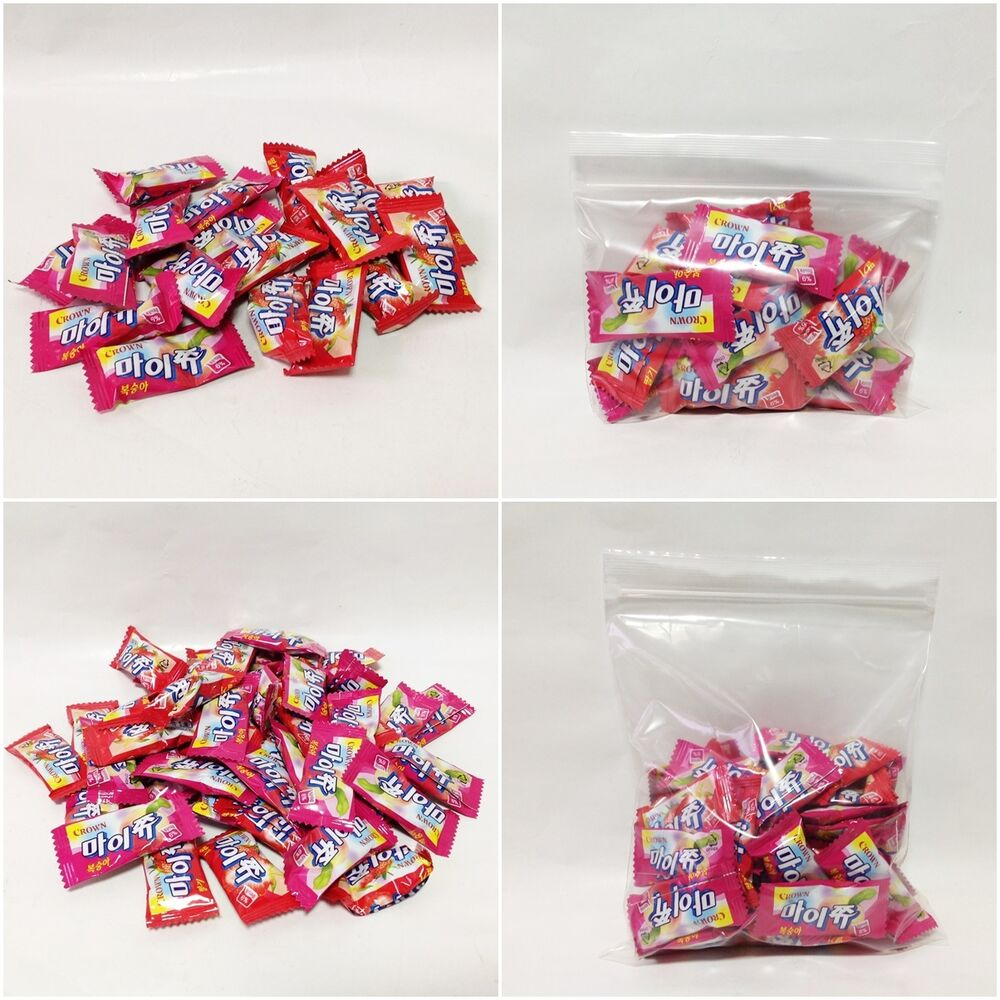 MYCHEW Crown Chewy Soft Candy Strawberry + Peach 2 kinds Korean made ...