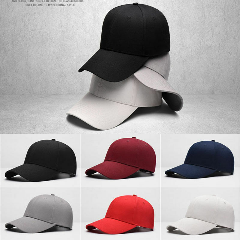 601d8579795 Details about 2019 Men Women New Black Baseball Cap Snapback Hat Hip-Hop  Adjustable Bboy Caps