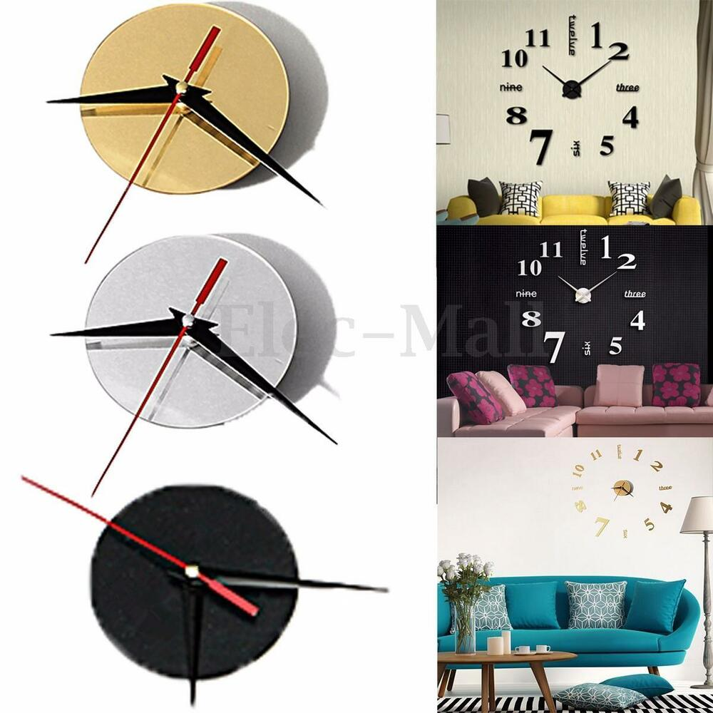 Large Quartz Wall Clock Movement Diy Hands Mechanism
