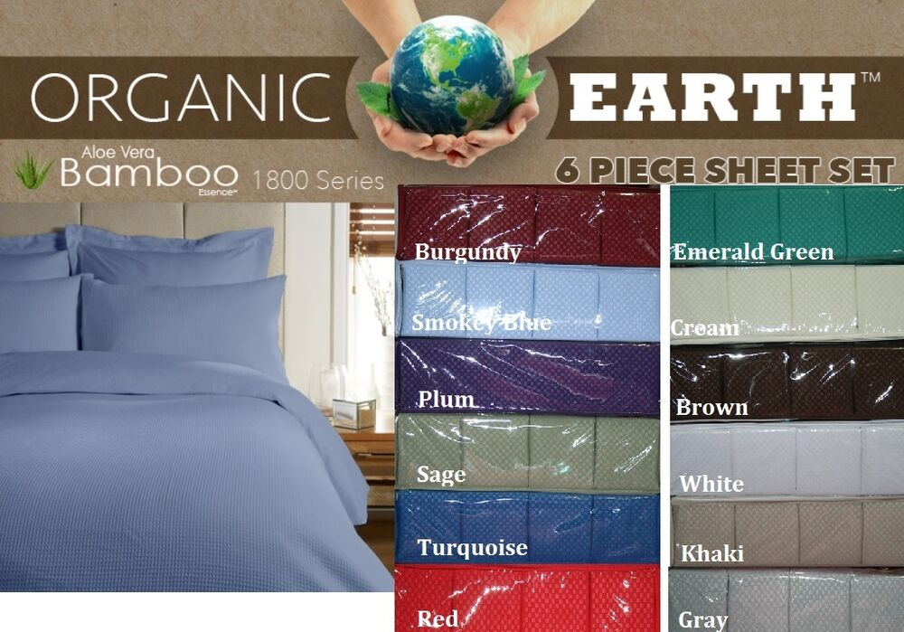 Bamboo 6 Piece Sheet Set Sizes Full Queen King Assorted