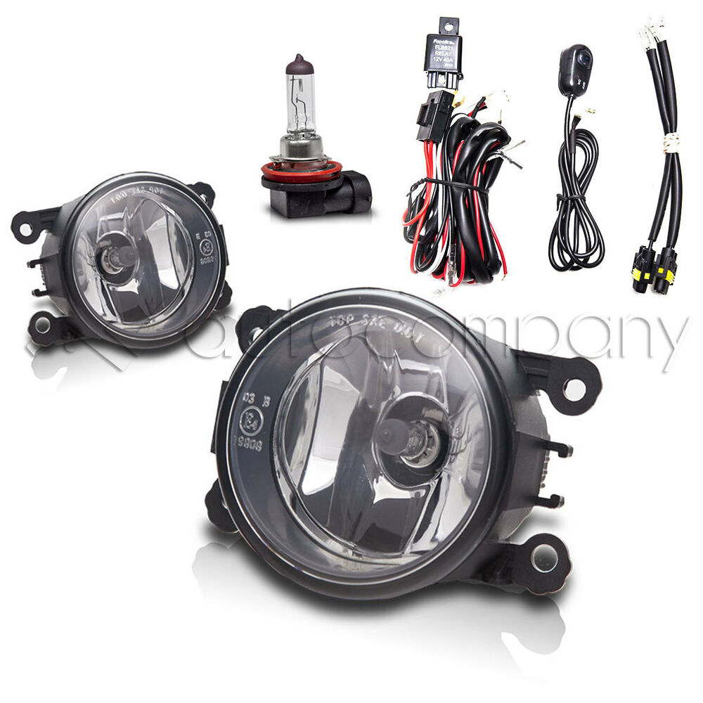 20052015    Ford       Mustang       Fog       Lights    Front Driving Lamps wWiring Kit  Clear   eBay